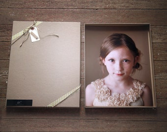 Kraft Photography Boxes for 4x6 prints-  box measures 4 1/4 x 6 1/4 x 7/8-- Set of 60- Recycled