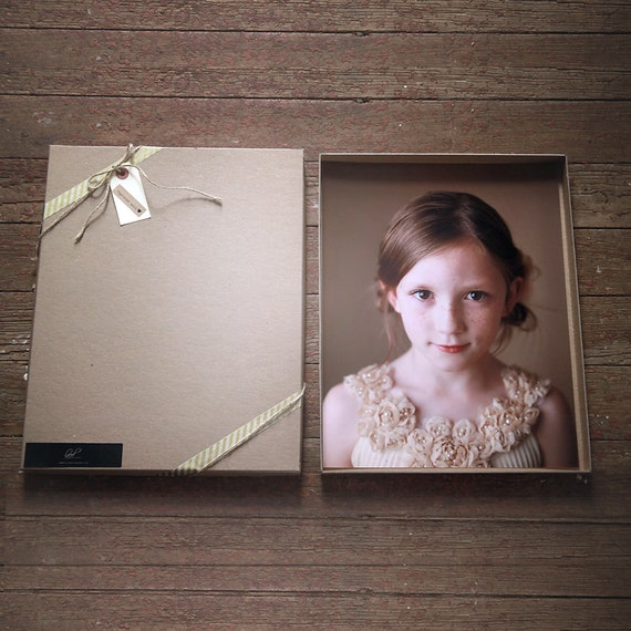 Recycled Kraft Photography Boxes for 11x14 prints- -- Set of 20