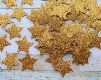 Twinkle Twinkle Little Star- Glitter Gold Star Confetti -Birthday Party Decor, Baby Shower!