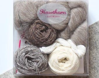 Weaving Supply Pack Naturals, Weaving Loom Kit, Woven Wall Hanging, Wall Hanging, Wall Tapestry, Wall Decor, Boho Decor, Woven Wall Art