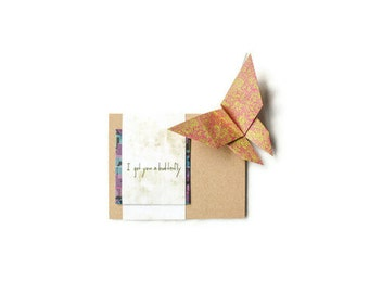 Origami Kit Card: I Got You a Butterfly