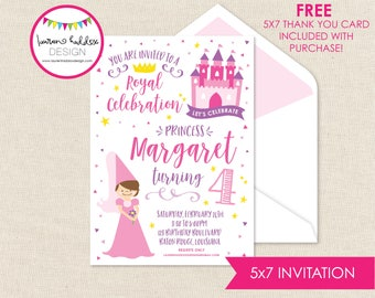 Princess Birthday, Princess Birthday Invitation, Princess Invitations, Princess Birthday Decorations, Lauren Haddox Designs