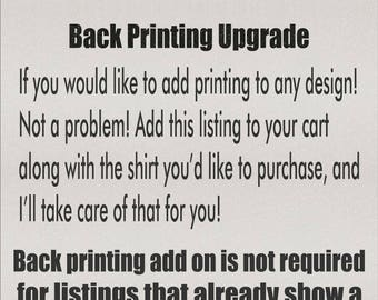Customization or Printing Add On - Upgrade