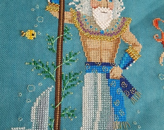 Brooke's Books - 1 of 12 - The Sea King of Andersen's Little Mermaid Collection .PDF INSTANT DOWNLOAD Cross Stitch Chart