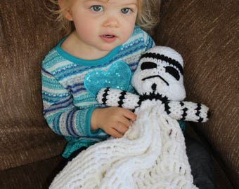 Crochet Storm Trooper Blanket Doll