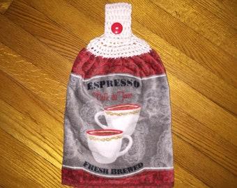 Hanging kitchen towel/Espresso