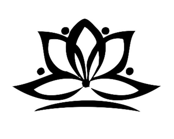 Lotus flower yoga tattoo set of 2 meditation tattoo yoga mightylinksfo