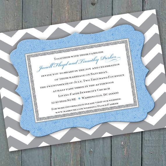 wedding invitations, chevron wedding invitations, wedding package, baby shower invitations, chevron baby shower invitations, IN304