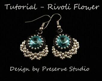 Beaded Rivoli, Earring Tutorial, Seed Bead Patterns, Rivoli Tutorial, Beaded Earring Pattern, Bead Patterns, Learn to bead, DIY Earrings