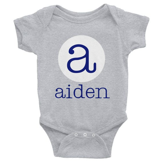 Personalized Name and Initial Onesie baby Gift Infant Bodysuit Luna B. Tee