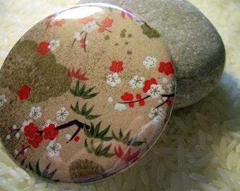 CLEARANCE sakura oasis - a pocket mirror featuring a japanese washi design