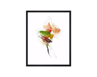 Abstract Art Print - Abstract Painting - Watercolor Painting - Abstract Watercolor Paintings -  Map Art - Colorful Painting