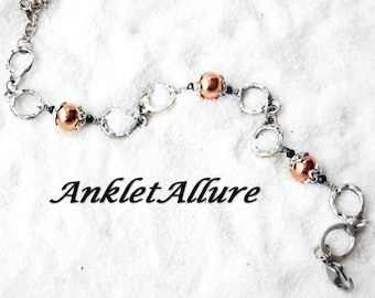 MIXED METAL Ankle Bracelet Copper Anklets for Women Chain Anklet