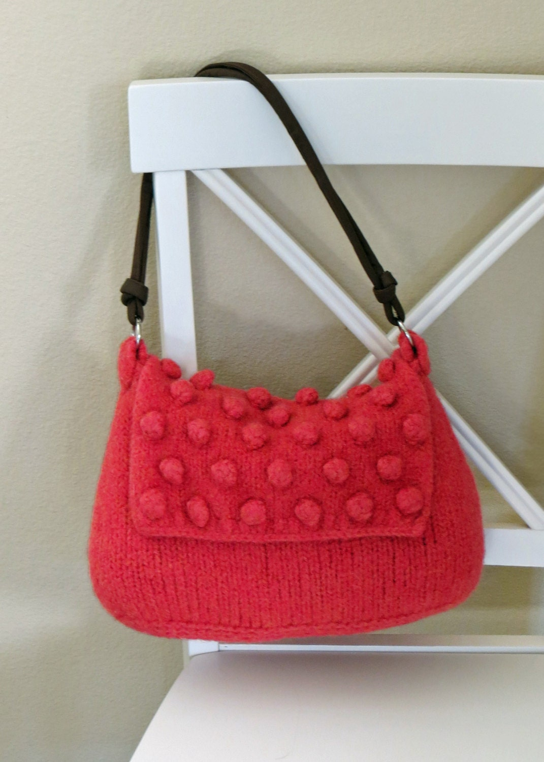Felted Purse Pattern, Knit Bag Pattern, Knitted Purse, #Knitting ...