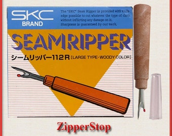 6 Large Seam Rippers with Wooden Type Handle~ ZipperStop Wholesale Authorized Distributor YKK®