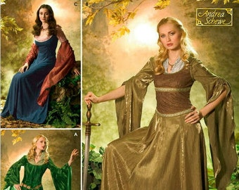 OOP Medieval Womans Fantasy Costume - Simplicity 4940 Sewing Pattern - Lord of the Rings, Medieval Dress, US Pattern Sizes: 10 -18 or 20 -26
