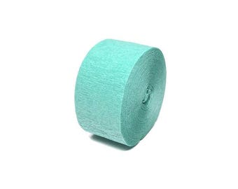 Seafoam Green Crepe Paper Streamer Roll - 81 Feet Long - Paper Craft Party Supplies