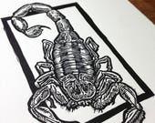 Scorpion print block prin...