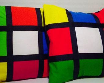 Rubik Cube Inspired Pillow Cover