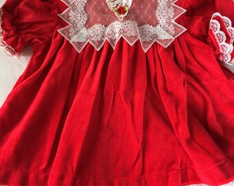 Vintage Cuddle Teen Red Dress