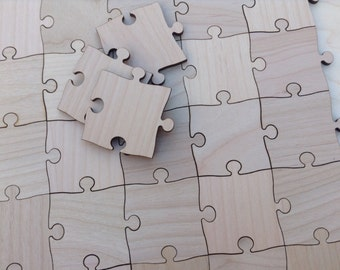 70 Large 2 inch Blank Puzzle Pieces Wedding Guest Book Puzzle/ Birthday/ Anniversary