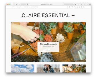 Claire Essential Plus - Modern Wordpress Blog Theme - Responsive Minimalist Design - Large Post Slider -  Featured Buttons - Shop - Gallery