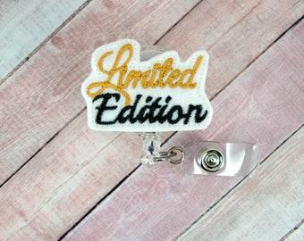 Limited Edition Badge Reel - Nurse Badge Holder - Feltie Badge Reel - Retractable ID Badge Holder - Badge Pull - Lanyard
