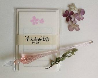 Furukawashiko Note pad and envelope set - Sakura