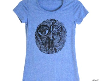 Smiling Sloth women's tee shirt
