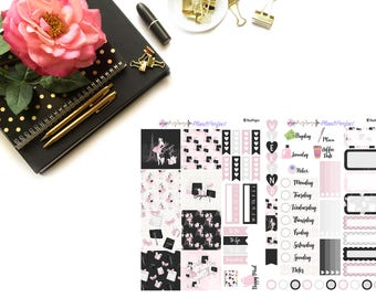 Paris Kit// MINI HP Weekly Kit// 2 sheets of planner stickers