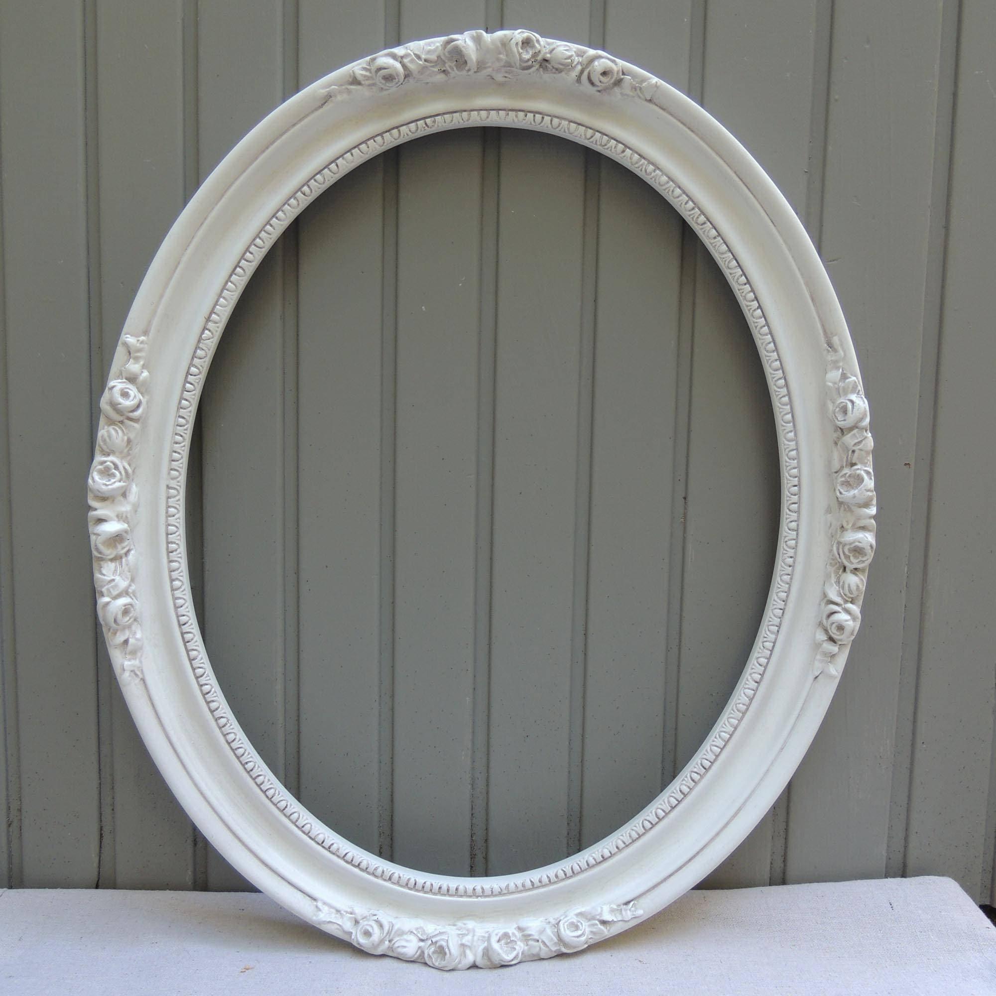 16 x 20 Oval Blanco marco Vintage ovalada, grande Oval marco para ...