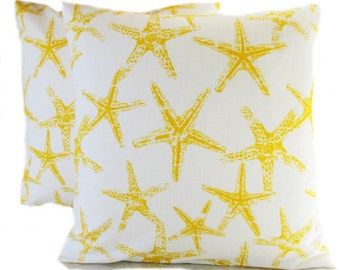 Yellow Pillows, Yellow Decorative Pillows, Yellow Pillow Covers, All Sizes  16 18 X
