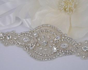 Gail - Style Vintage strass cristaux bandeau de mariage