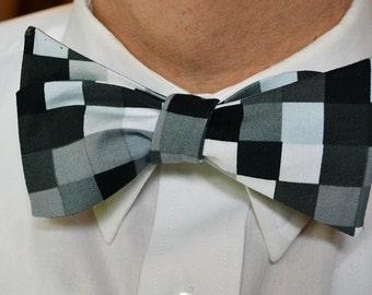 Grey Bow Tie, Black Bow Tie, Self Tie Bow Tie, Bow Ties for Men, Wedding Bow Tie, Mens Bowties, Mens Bow Ties, Black Bowties, Gifts for Men