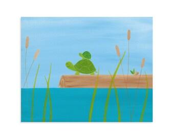 Turtle Nursery Art - Original Painting Print