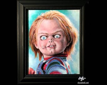 Chucky - Original Drawing - Childs Play Horror Monster Creature Doll Toy Scary Halloween 80s 90s Vintage Cute Gothic Kill Pop Lowbrow Pop