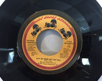 George Harrison Got My Mind Set on You 45 RPM Vinyl Record Dark Horse Records Lay His Head