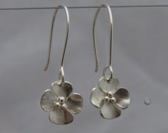 Silver Buttercup Drop earrings