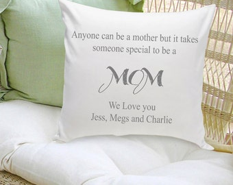 Personalized Mother's Day Throw Pillow - Mother's Day Gifts - Decorative Pillows for Mom - Personalized Gifts for Her - GC1108 GRAY