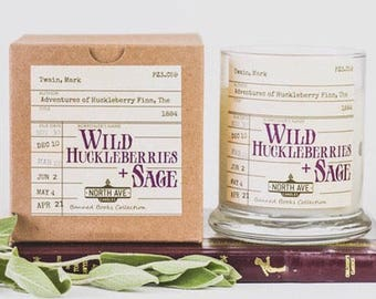 Wild Huckleberries + Sage / Inspired by The Adventures of Huckleberry Finn / Book Themed Candles / Part of the Banned Books Collection