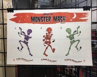 How To Monster Mash - Digital print