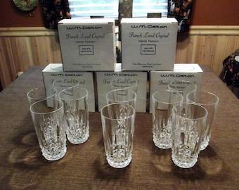 W.M. Dalton *-* Verite *-* Beverage Glasses, 24% French Lead Crystal, Set of 11