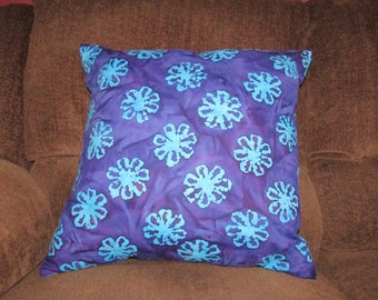 Purple Flower and Tye Dye Pillow