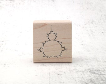 Mandelbrot Fractal Geometry Rubber Stamps - Math and Physics Gift- STEM & STEAM Teachers Stamp