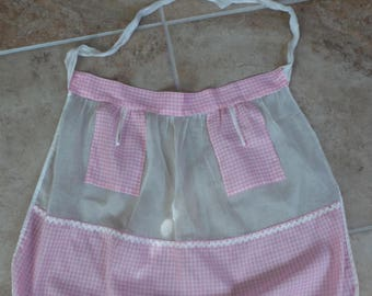 Handmade Pink Checkered Apron