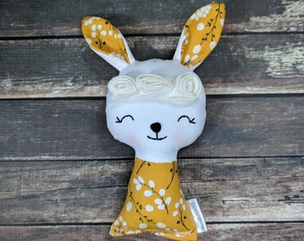 Handmade bunny doll,Cloth doll,ready to ship doll,fabric doll,rag doll,gifts for girls,girls toy,bunny gift,easter basket gift