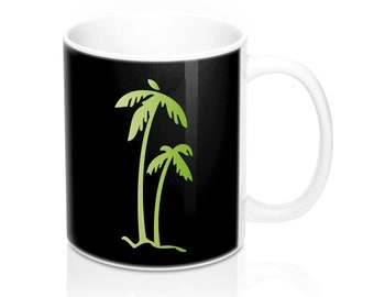 Palm green mug