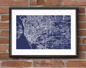 Buffalo Map Art Print – Blueprint // Buffalo Poster | Buffalo Art | Buffalo Print // Free Shipping
