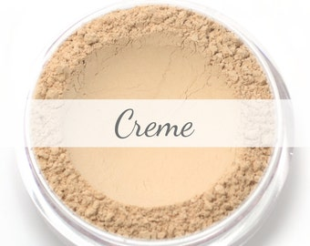 "Mineral Wonder Powder Foundation Sample - ""Creme"" - light shade with a pink undertone - vegan makeup"