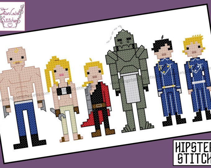 Fullmetal Alchemist Inspired Cross Stitch - PDF Pattern - INSTANT DOWNLOAD